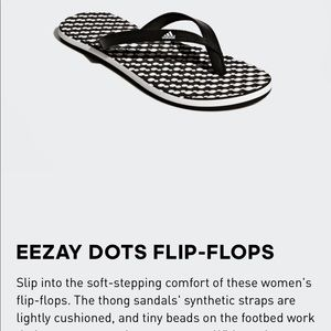 Adidas Eezay Dots flip flops, size 7, new in box.
